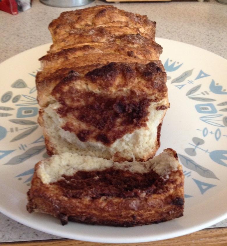 scone bread sliced